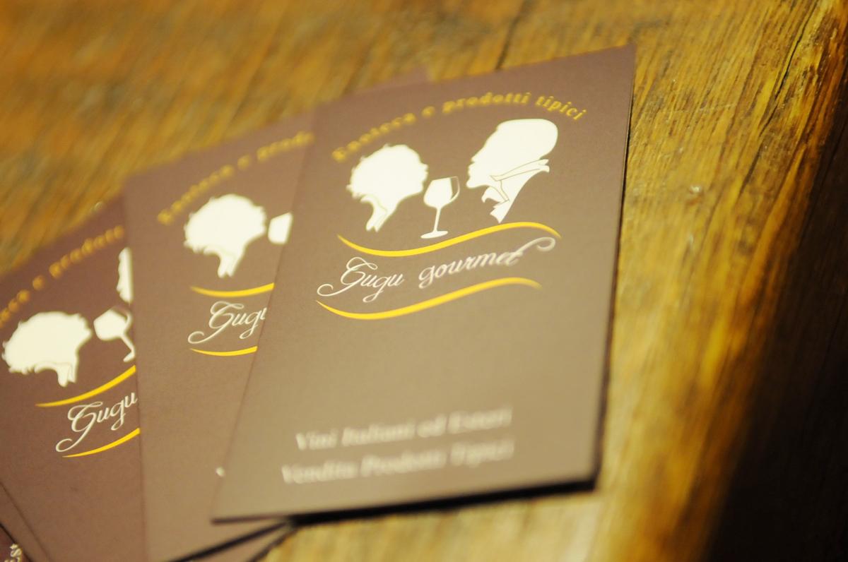 Gugu Gourmet Bigliettini da visita by Maniac Studio