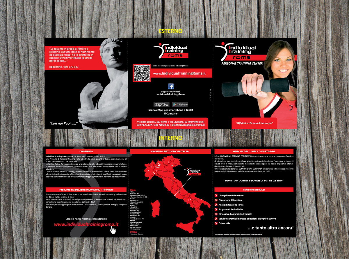 Brochur a 3 Ante Individual Training Roma by Maniac Studio