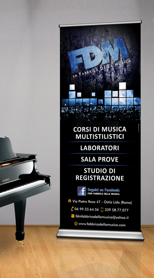 Fabbrica della musica Roll-up by maniac studio