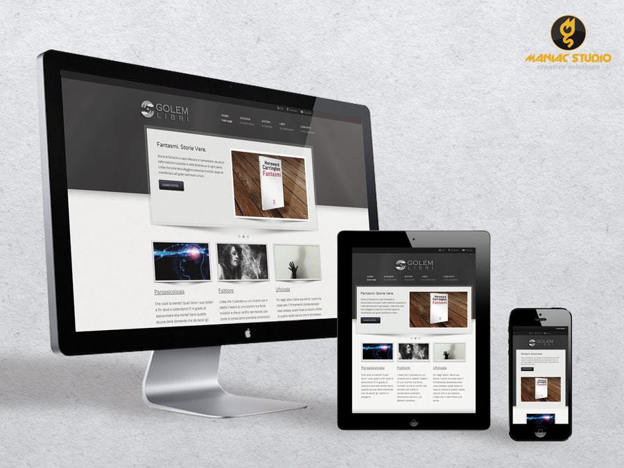 Golem Libri Sito Web by Maniac Studio