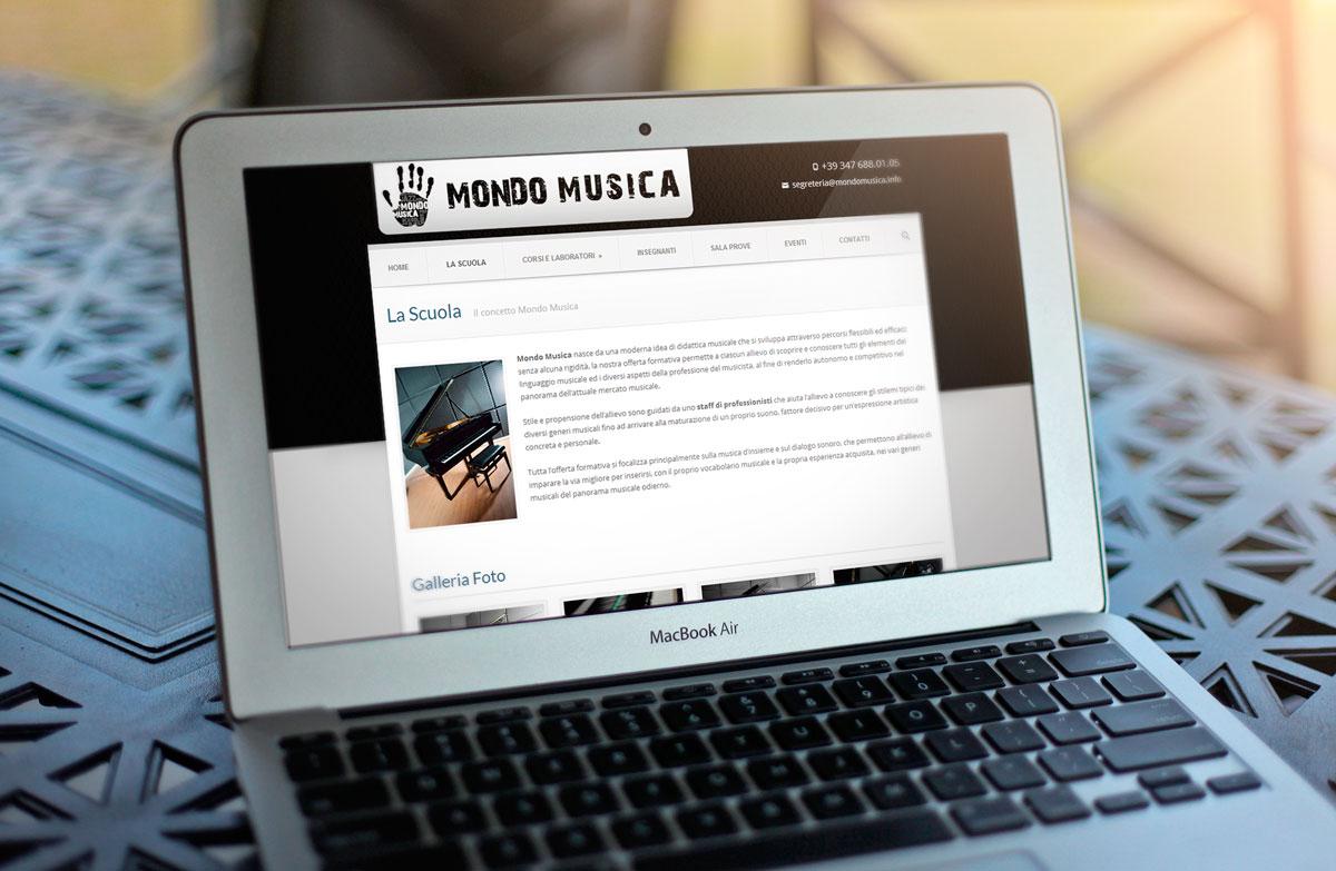Mondo Musica Sito Web by Maniac Studio
