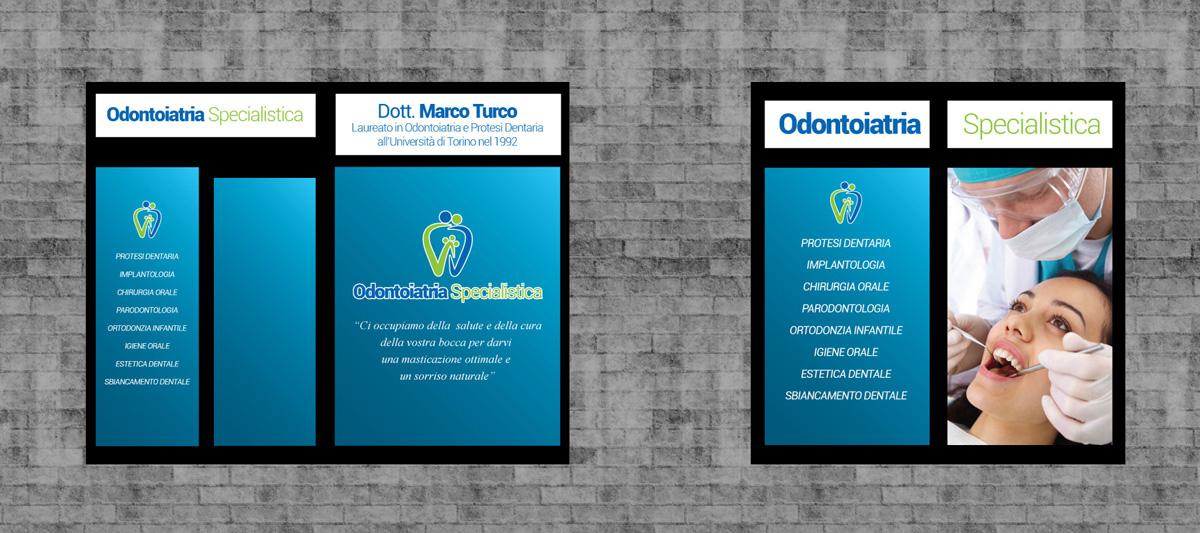Odontoiatria Specialistica Progetto Vetrofanie Esterne by Maniac Studio