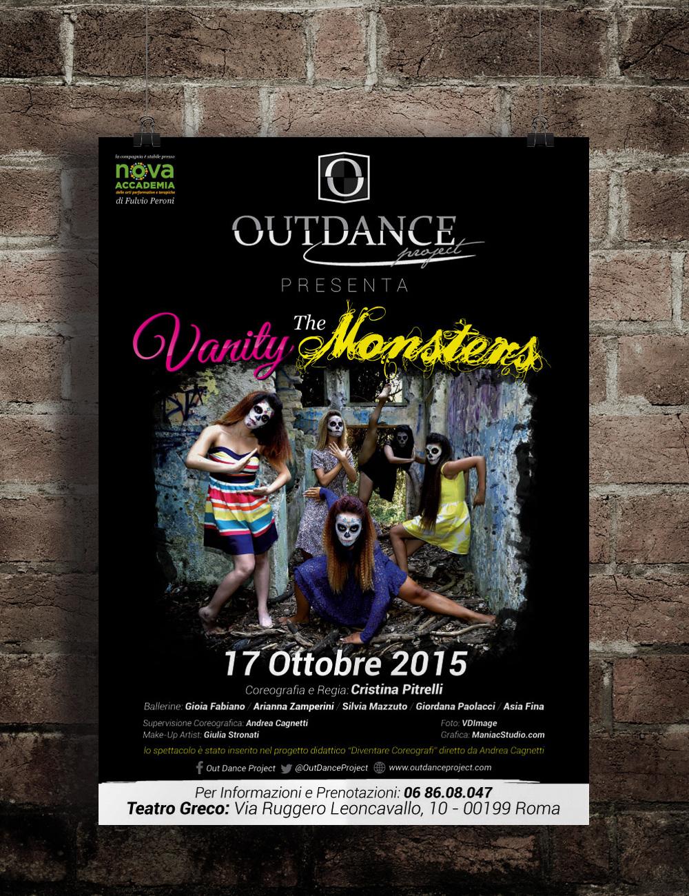 OutDance Project Manifesti e Locandine by Maniac Studio