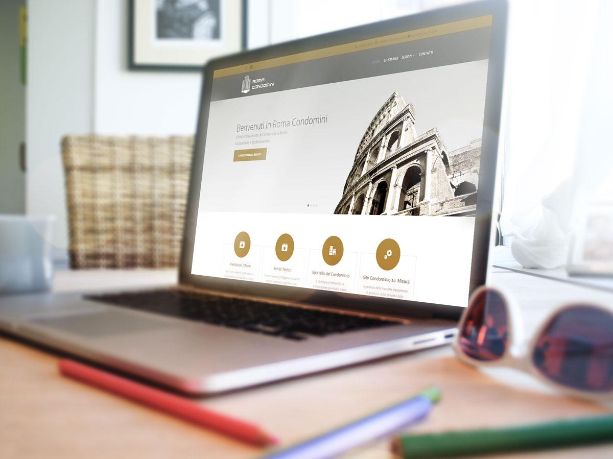Roma Condomini Realizzazione Sito Web by Maniac Studio