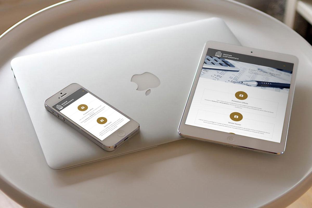 Roma Condomini Realizzazione Sito Web per Mobile by Maniac Studio