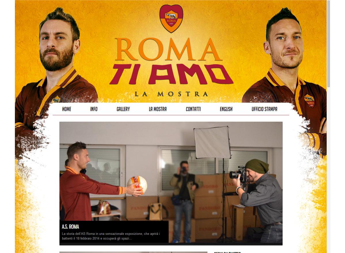 Roma ti amo Servizio Fotografico Sito Web Backstage by Maniac Studio