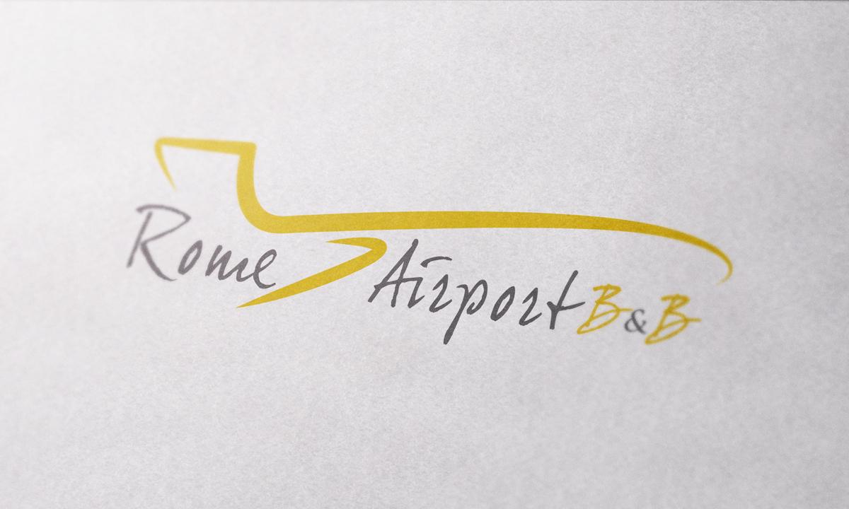 Rome Airport B&B Logo by Maniac Studio