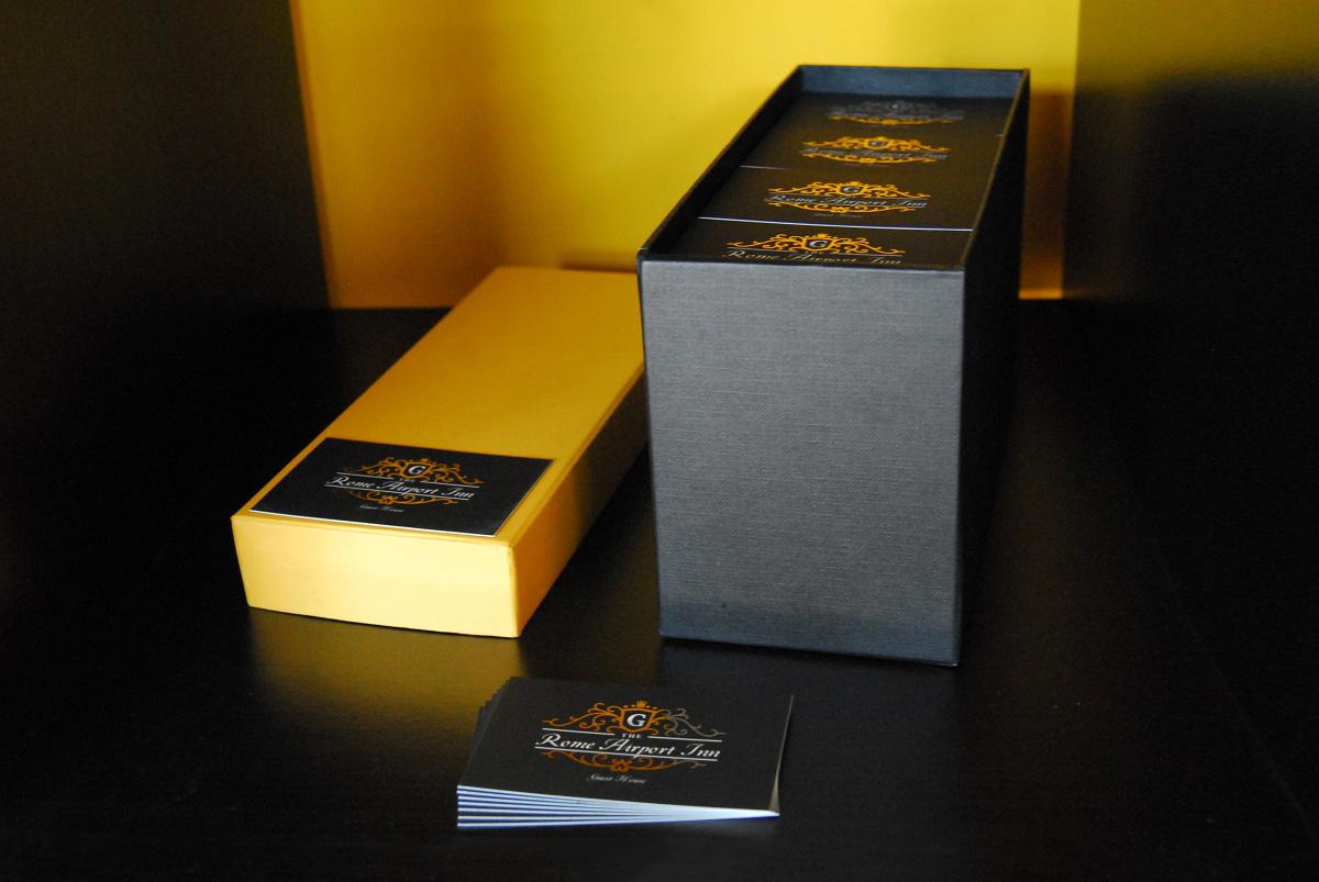 Rome Ariport Inn Biglietti da visita oro by Maniac Studio